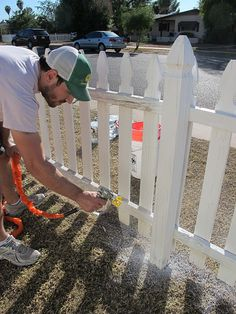 Painting A White Picket Fence