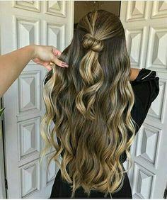 Balyage Hair, Hair Color Balayage, Corte Y Color, Cut Her Hair, Brown Hair With Highlights, Haircuts For Long Hair, Gorgeous Hair, Dark Hair, Hair Inspiration