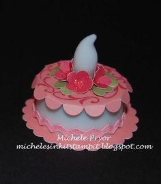 Decorated battery operated Tea Light.  Great for a wedding or Birthday