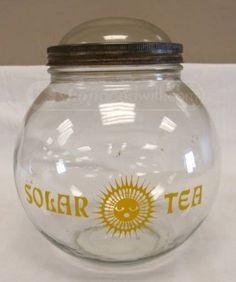 vintage solar tea jar