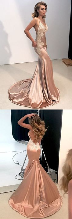 2018 Mermaid Prom Dress ,Lace Cheap Long Prom Dress