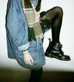 Image via We Heart It https://weheartit.com/entry/146661817 #beautiful #black #boots #coat #fashion #girl #grunge #hipster #jean #outfit #pale #peace #perfect #shoes #skarf #docmarten's