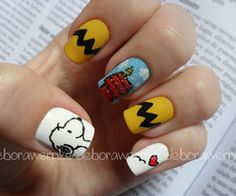 Charlie Brown nails @Michelle Damian @Morgan Treppa  Yeah, I would like this.