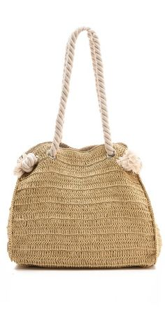 braided raffia and rope summer tote beach bag-for Jen to make :-)