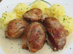 Codillo asado al ajillo Ana Sevilla olla GM Carne Asada, Empanadas, Bon Appetit, Allrecipes, Baked Potato, Cooker, Food And Drink, Potatoes, Gm Olla