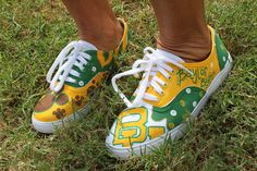 Hand-Painted Keds by Waco-local artist. Spotted at the BAA Tailgate/BU vs. SHSU game.