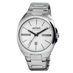 Reloj de Pulsera de Acero Inoxidable de Axcent of Scandinavia y Esfera en color Blanco. Calendario.  http://www.tutunca.es/reloj-unisex-deportivo-blanco