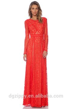eb312a629 Source Christmas gift for women long sleeve lace evening gown on  m.alibaba.com