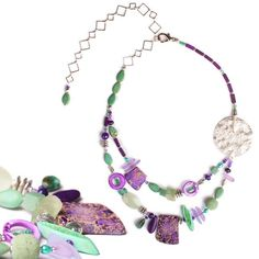 N°611 Respect All Life Form... Abalone Jewelry, Planet Design, Life Form, Beaded Necklace, Necklaces, Jasper, Amethyst, Quartz, Jewelry Design