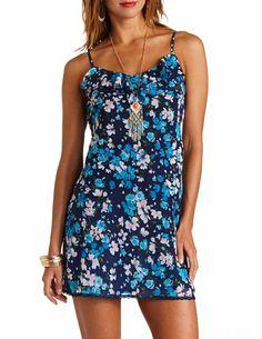 Floral Print Flounce Shift Dress: Charlotte Russe