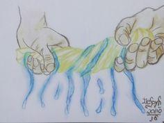 """Day 20: #squeeze (#espremer): colori com o dedo então tá mais ou menos. >. < #inktober…"""""""