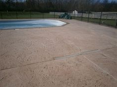 Beautiful finished pool deck.