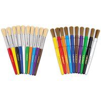 Nylon Bristle Brushes- 10 Colours Brushes, Arts And Crafts, Colours, Blush, Art And Craft, Paint Brushes, Art Crafts, Crafting, Makeup Brush