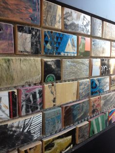Part of our Brookland Works lobby! The tiles are made from recycled #skateboards. #architecture #design #home