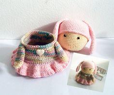 Crochet Bunny Box decorative and utensil box by NittaCrochetCrafts