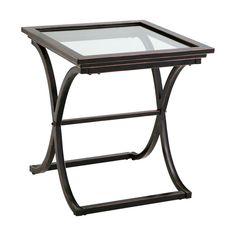 Vogue End Table Copper (Brown)/Black - Southern Enterprises