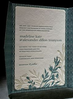the engadine wedding invitation is part of Smock's letterpress & foil collection. free shipping, fre