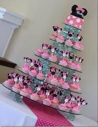 Minnie mouse crystal base cupcake