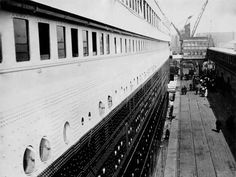 Amateur photographer Francis Browne was aboard the Titanic from Southampton to Cobh, Ireland and captured many images of the ship's interior, exterior, and voyage.  He took this as he was boarding the ship