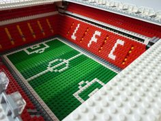 See amazing Lego versions of Anfield, Highbury, Goodison Park and more Premier League grounds - Mirror Online Lego Football, Lego Sports, Football Stadiums, Liverpool Fc Stadium, Soccer Stadium, Liverpool Cake, Soccer Match, Play Soccer, Lego Soccer