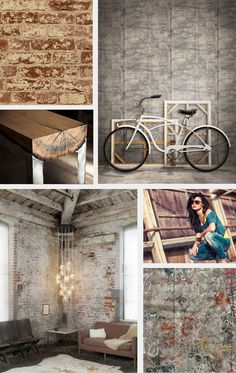 Industrial Chic Design Revolution, Accomplished with Brick Wallpaper by York! Industrial Revolution, Industrial Chic, Textured Brick Wallpaper, Interior Wallpaper, Faux Brick, Brick Design, Color Club, Cool Office, Rustic Feel