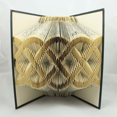 Luciana Frigerio - Folded Book Art These sculptures are made from carefully folding the pages of recycled books to create different designs. Old Book Crafts, Book Page Crafts, Book Page Art, Folded Book Art, Paper Book, Paper Art, Paper Crafts, Cut Paper, Book Folding Patterns Free