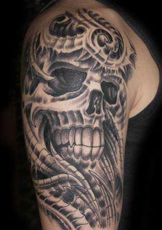 Tribal skull design.
