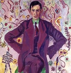 "kundst: "" Heinrich Maria Davringhausen (Ger. 1894-1970) Portrait of a man (1912-1913) oil on canvas (97.5 x 90.5 cm) New Objectivity """