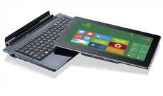"""The Ergo Hybrid is a fully Windows® 8 compatible Tablet with 11.6"""" HD screen, fast start up and laptop functionality with a docking station which includes a full QWERTY keyboard."""