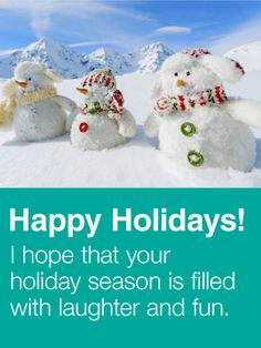 61 best seasons greetings cards images on pinterest card birthday family snowman seasons greetings card whats better than a snowman three snowmen send m4hsunfo