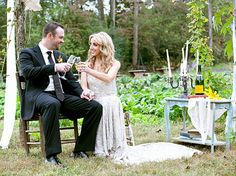 Ashley Monroe of Pistol Annies looked absolutely stunning in her wedding dress. She married White Sox pitcher John Danks in a sunset ceremony against the backdrop of the Smoky Mountains.