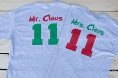 Mr Claus and Mrs Claus Shirts - Couples Christmas Shirts - Matching Christmas Shirts - Christmas Shirts for Couples - Matching Couple Shirts by MirrorMeFashion on Etsy