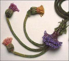 Cynthia Rutledge presents:  The Monet Garden Necklace Kit  ©1999 by Cynthia Rutledge