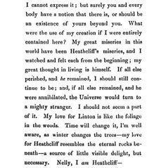 My favourite passage from Wuthering Heights, so well written. By far one of my favorite books