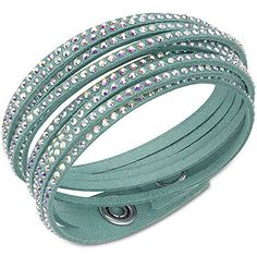 SWAROVSKI SLAKE DELUXE LIGHT GREEN BRACELET, 5064289 | Duty Free Crystal