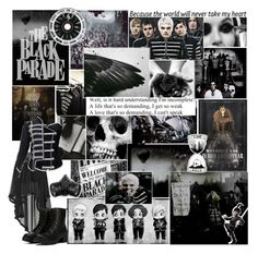 """The Black Parade"" by demolition-vampire ❤ liked on Polyvore featuring Vans and Poizen Industries"