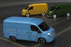 originally designed by flaminio bertoni, the iconic vehicle is reinterpreted through a nostalgic fiberglass skin.