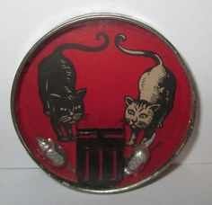 German dexterity puzzle, featuring cats chasing mice (1920's)