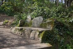 Bench made from rocks