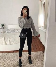 outfit ideas for women 21 ~ thereds.me – Mode Outfits Trendy Fall Outfits, Casual Winter Outfits, Winter Fashion Outfits, Simple Outfits, Look Fashion, Stylish Outfits, Spring Outfits, Autumn Outfits, Winter School Outfits