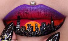 Cityscape:The Sydney-based make up artist regularly shares her stunning creations with her 762,000 followers - her work often inspired by popular movies and characters