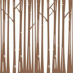 Silhouette Design Store - View Design #72806: bare winter trees