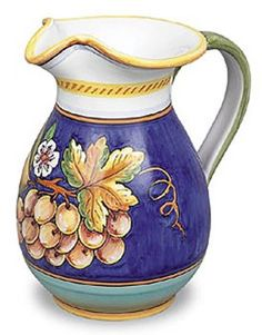 Amazon.com | Hand Painted Italian Ceramic Uva Fresco Pitcher - Handmade in…