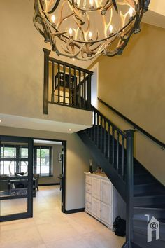 Dark Staircase, Staircase Design, Stairs, Loft House Design, Shade Sail Installation, Open Trap, Dark Grey Walls, Happy New Home, Hallway Designs