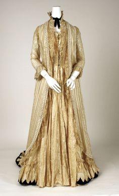 Tea Gown: ca. 1880's, American.