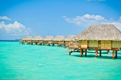 How would you like to stay overnight in these overwater bungalows? #BoraBora