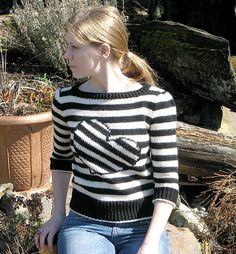 Ravelry: Tilted Heart Top pattern by Eileen Casey