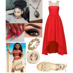 Fashmates Outfit Inspiration: Disney Prom- Moana Moana Outfits, Disney Prom, Polyvore Fashion, Style Inspiration, How To Wear, Shopping, Design