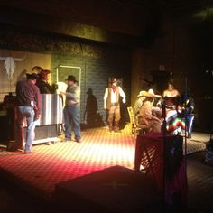 """Scene from the local production of """"Midnight Rendezvous: Billy the Kid and the Mystery of at the Historic Adobe Horseshoe Theatre Historical Society, Historical Sites, Billy The Kids, County Jail, Tour Guide, Art Studios, The Locals, Theatre, The Neighbourhood"""