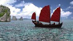 Chinese ship by on deviantART Junk Ship, Dragon Age, Cinema 4d, Sailing Ships, Chinese, Photoshop, Ocean, Boat, Deviantart